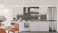 Кухня Злата 2.6 с пеналом Серая Аляска, фото 1
