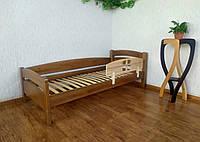 """Детская односпальная кровать с бортиком из массива дерева """"Марта"""" (светлый дуб) от производителя"""