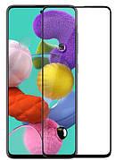 Защитное стекло Full cover 2.5D Premium Samsung A51  Black