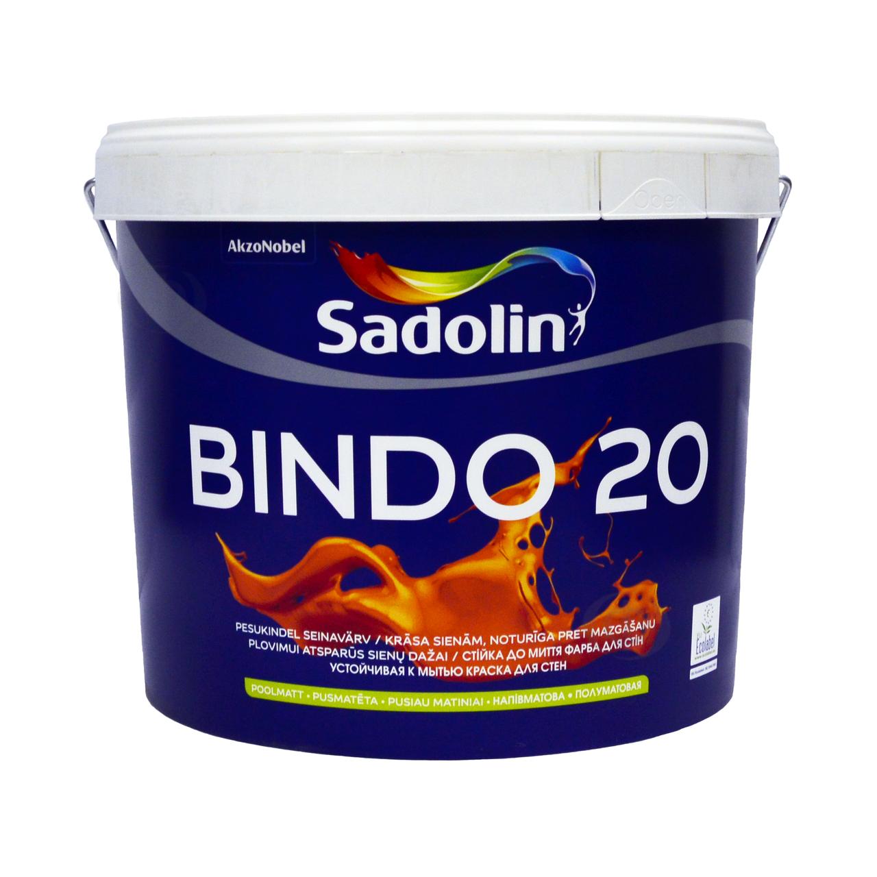 Краска Sadolin BINDO 20 тонир.база ВС 9.3 л