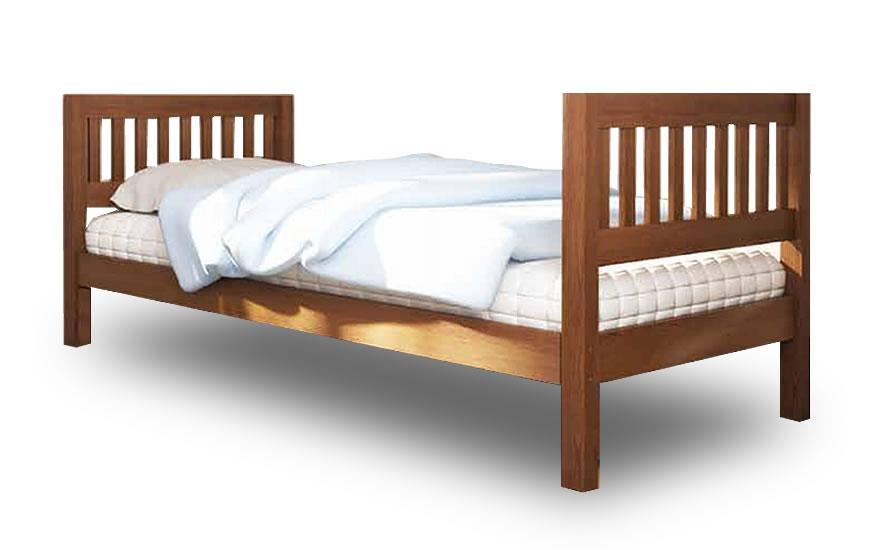 Односпальная кровать Максим (нижнее, без защитных перегородок, прямые перила, без ящиков) Venger