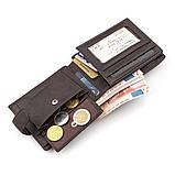 Мужской кошелек ST Leather 18330 (ST137) очень вместительный Коричневый, Коричневый, фото 5
