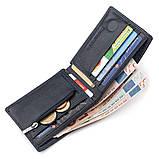 Мужской кошелек ST Leather 18351 (ST-1) компактный Синий, Синий, фото 4