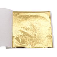 Сусальное золото пищевое - поталь, лист 8,5*8,5 см