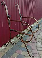 Скамейка кованная садовая (боковины с цветком 2 шт.), фото 1
