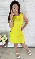 Летнее льняное женское платье