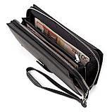 Мужской кошелек ST Leather 18453 (ST128) стильный Черный, Черный, фото 3