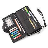 Мужской кошелек ST Leather 18453 (ST128) стильный Черный, Черный, фото 5