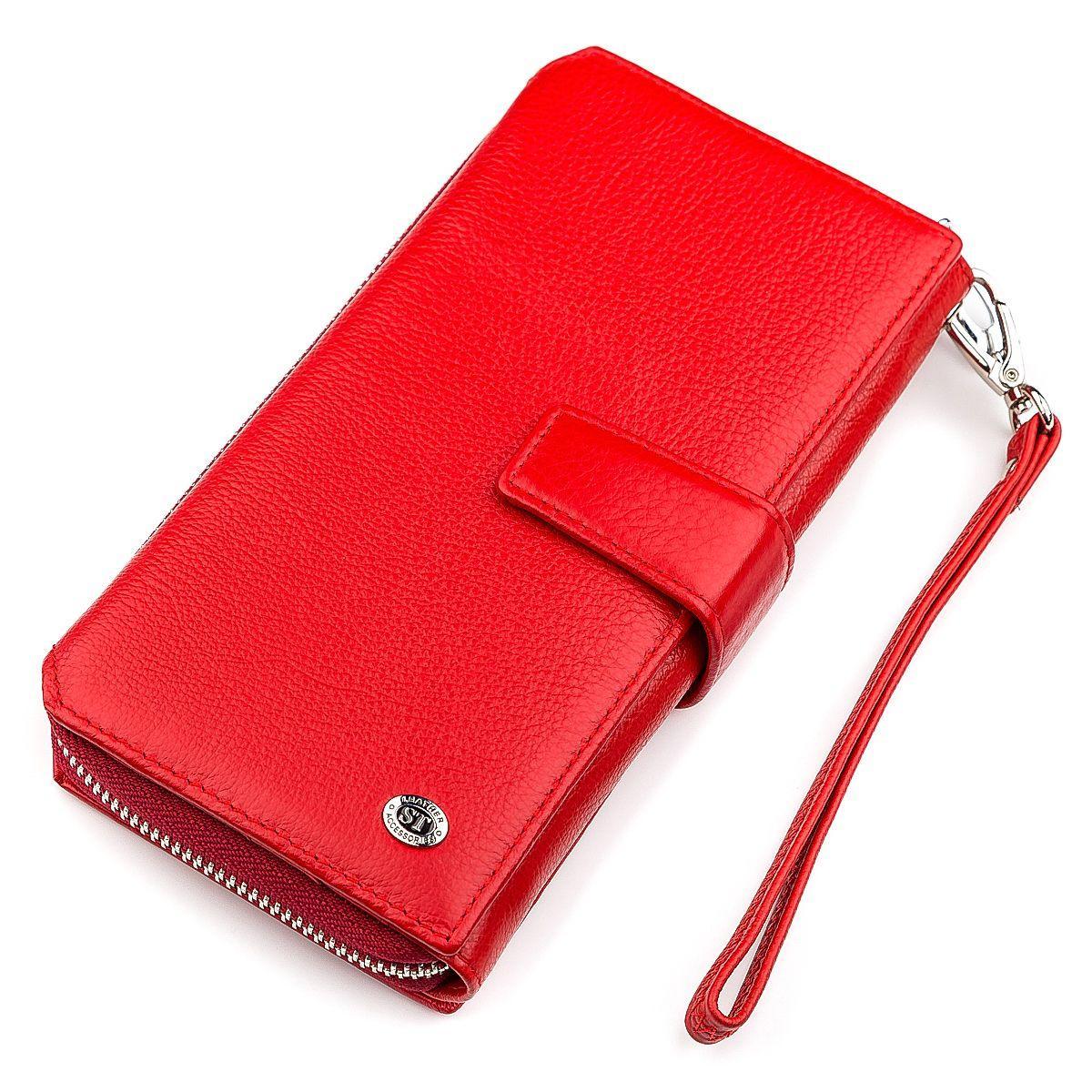 Кошелек женский ST Leather 18456 (SТ228) очень красивый Красный, Красный