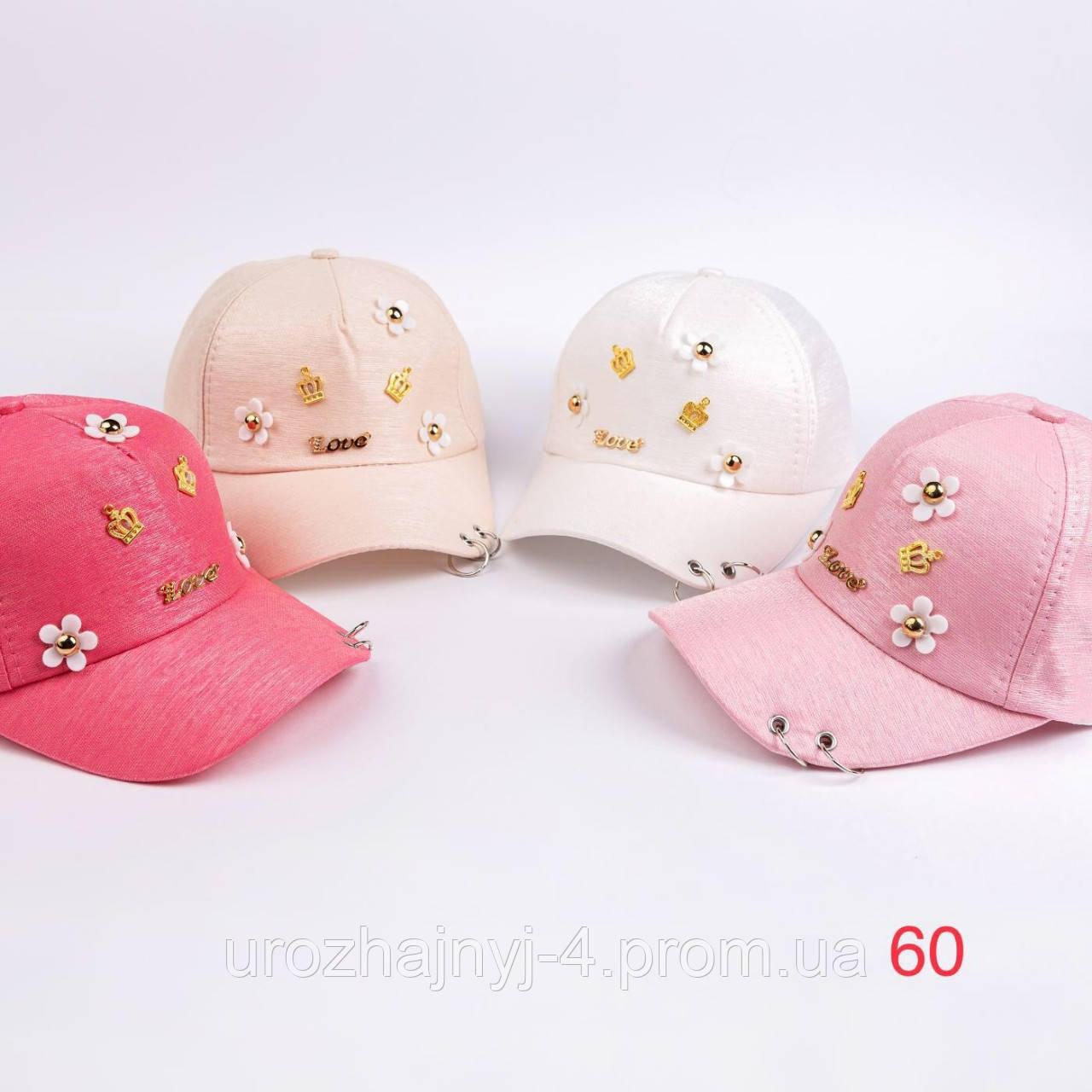 Коттоновая кепка для девочек р50-52
