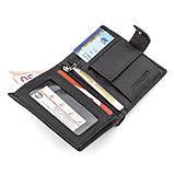 Мужской кошелек ST Leather 18495 (ST131) вертикальный Черный, Черный, фото 3
