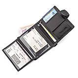 Мужской кошелек ST Leather 18495 (ST131) вертикальный Черный, Черный, фото 4