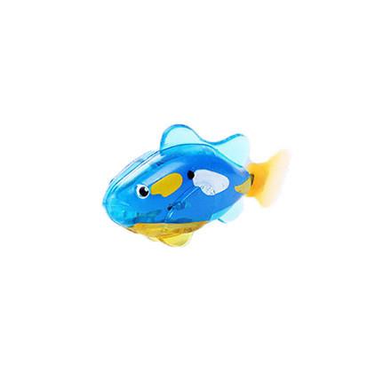Интерактивная игрушка Robo fish Светящаяся рыбка-робот синяя