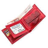 Бумажник женский SEA SNAKE LEATHER 18275 из натуральной кожи морской змеи Красный, Красный, фото 4