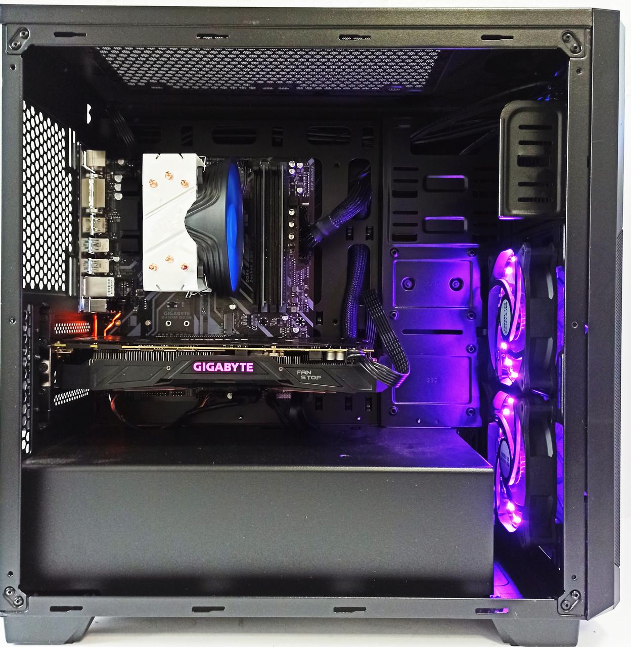 Игровой компьютер AMD Ryzen 5 3600 / GeForce GTX 1080 8GB / 16 GB DDR4 / 480GB SSD / 1TB HDD
