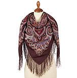 В ожидании праздника 1895-16, павлопосадский платок шерстяной с шелковой бахромой, фото 3