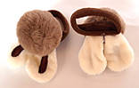Детские резинки для волос пушистые 2 шт, коричневые, фото 2