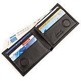 Зажим портмоне мужской кожаный KARYA 17246 Черный, Черный, фото 3