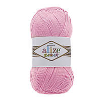 Хлопковая пряжа Ализе Бахар BAHAR розового цвета 98