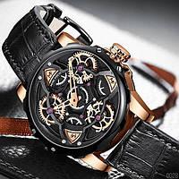 Мужские наручные часы оригинальные кварцевые черные Mini Focus All Black