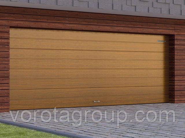 Воротa секционные бытового типа с низким и стандартным типами подъема