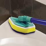 Универсальная чистящая щетка-швабра с 3-мя насадками  Clean Reach, фото 6