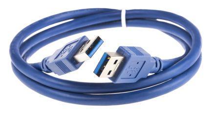 Кабель USB 3.0 AM-AM 1.5 м для внешних HDD Синий (USB3-AMAM-1)