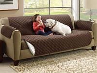 Накидка (покрывало) на диван двусторонняя - Couch Coat!Изготовлено из водонепроницаемой стеганной ткани!