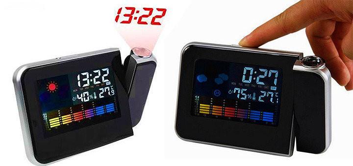 Проекционные часы DS-8190!Часы-метостанция,вы всегда будете в курсе изменений погоды!