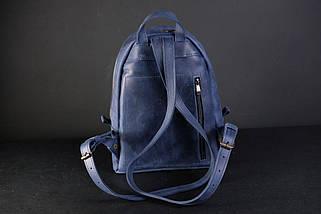 Женский кожаный рюкзак Лимбо, размер мини Винтажная кожа цвет синий, фото 3