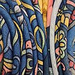 Весенняя фантазия 630-14, павлопосадский платок шерстяной (разреженная шерсть) с швом зиг-заг, фото 4