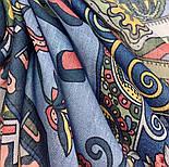 Весенняя фантазия 630-14, павлопосадский платок шерстяной (разреженная шерсть) с швом зиг-заг, фото 2