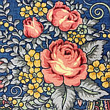 Весенняя фантазия 630-14, павлопосадский платок шерстяной (разреженная шерсть) с швом зиг-заг, фото 6
