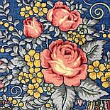 Весняна фантазія 630-14, павлопосадский хустку вовняної (розріджена шерсть) з швом зигзаг, фото 6