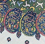 Весенняя фантазия 630-14, павлопосадский платок шерстяной (разреженная шерсть) с швом зиг-заг, фото 9