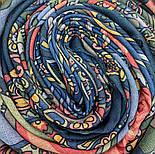 Весенняя фантазия 630-14, павлопосадский платок шерстяной (разреженная шерсть) с швом зиг-заг, фото 7