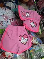Летние детские шорты для девочки р.110 - 134