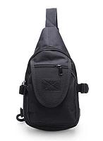 Тактическая/городская сумочка через плечо TACTICAL A32 Черная (hub_ABaT29245)