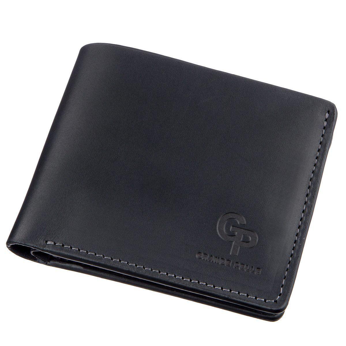 Функциональное портмоне унисекс на магните GRANDE PELLE 11206 Черное, Черный