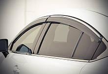 Дефлекторы окон (ветровики) Mazda 6 2013- С Хром Молдингом