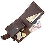 Надежное мужское портмоне в винтажном стиле GRANDE PELLE 11229 Коричневое, Коричневый, фото 4