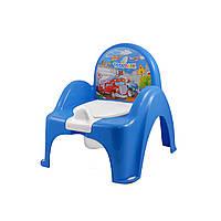Горшок-стульчик Tega Baby музыкальный Машинки голубой PO-053-120, фото 1