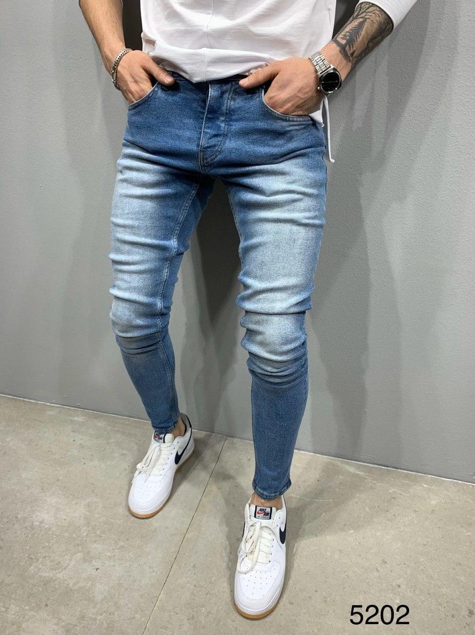 Мужские джинсы голубые 2Y Premium 5202