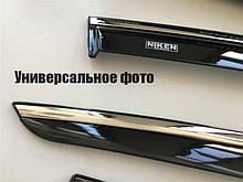 Дефлекторы окон (ветровики) Ford Focus 3 2011- (с хром молдингом) 047fo110201