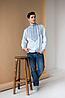 Мужская рубашка вышиванка Горы, фото 2