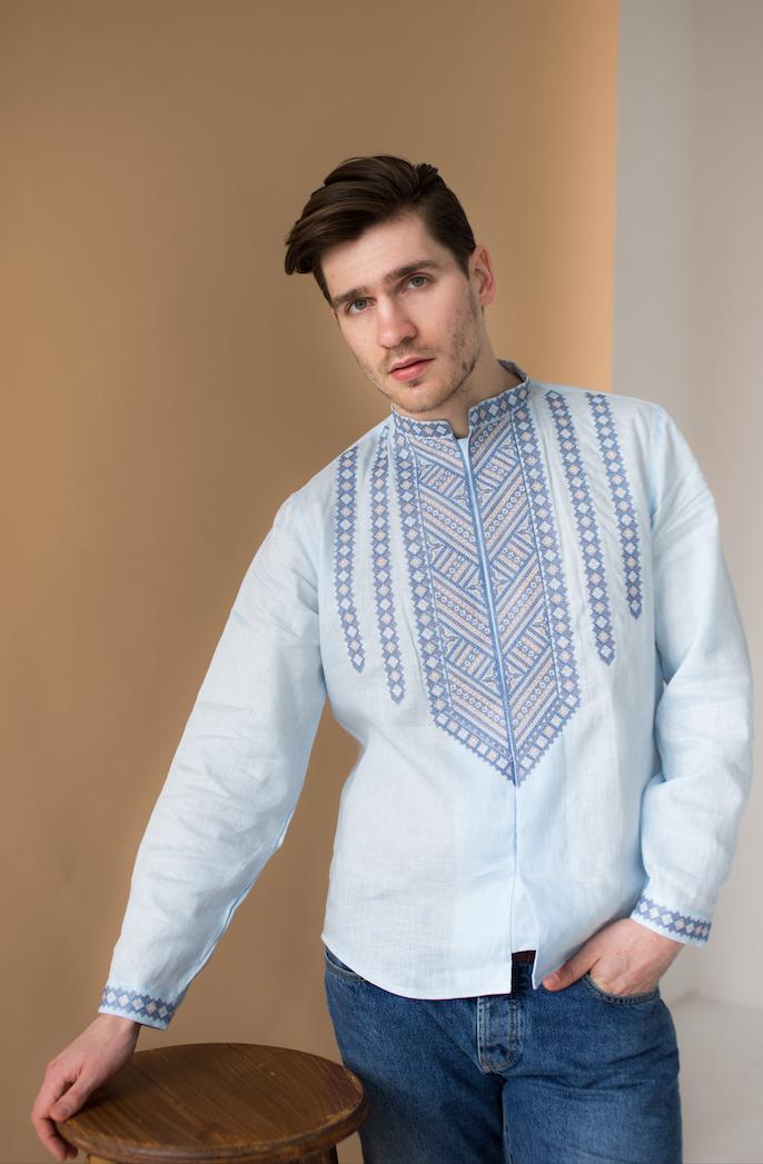 Мужская рубашка вышиванка Горы