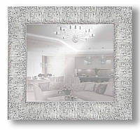 Зеркало настенное в раме Factura Textured silver 49.5х49.5 см серебро, фото 1