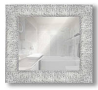 Зеркало настенное в раме Factura Textured silver 51х51 см серебро, фото 1
