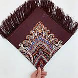 В ожидании праздника 1895-16, павлопосадский платок шерстяной с шелковой бахромой, фото 9