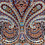 В ожидании праздника 1895-16, павлопосадский платок шерстяной с шелковой бахромой, фото 2